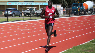 In front: Tom Jok is looking to make an impression at the Saints.