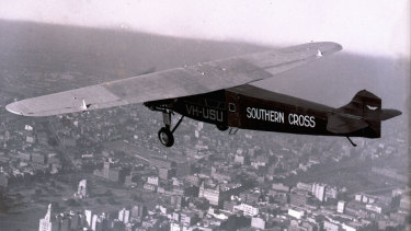The Southern Cross in the skies above Sydney in an undated photograph.