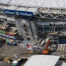 Sydney stadium demolition ramps up on the eve of last-ditch appeal