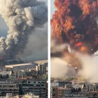 The explosion in Beirut.