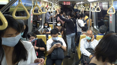 Commuters in Taipai in Taiwan.