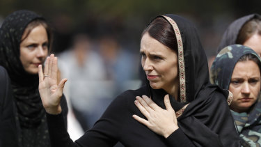 New Zealand Prime Minister Jacinda Ardern comforts her nation after the Christchurch atrocity ... but should it be a reason to forfeit out freedoms?