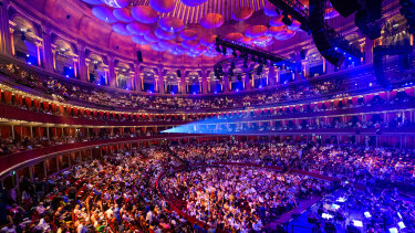 A packed Royal Albert Hall in central London in July.