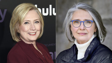 """Former secretary of state Hillary Clinton and author Louise Penny, with whom she is writing the novel """"State of Terror""""."""