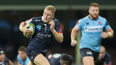 Reece Hodge in action for the Melbourne Rebels.