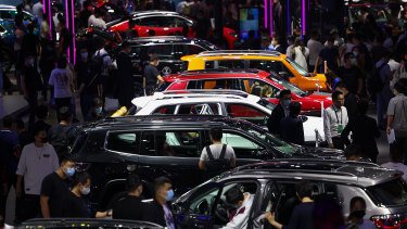 The crowds were out in force at the Beijing Auto Show.