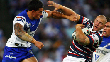 Big-hitter: Sonny Bill Williams made his name as a purveyor of spectacular shots with the Bulldogs.