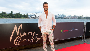 Tim Robards rocking flamboyant trousers.