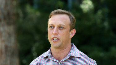 Queensland Health Minister Steven Miles updates the media on Saturday.