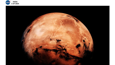 The red planet ... robots would be a cheaper and safer option for a Mars landing.