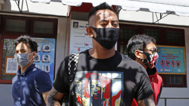 Australian man William Cabantog leaves Kerobokan prison in Bali, Indonesia on Saturday.