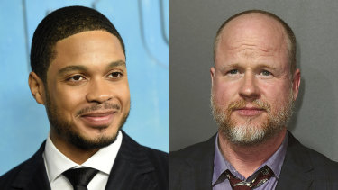 Carpenter's accusations come after Ray Fisher (left) last year accused Whedon (right) of misconduct on the set of Justice League.