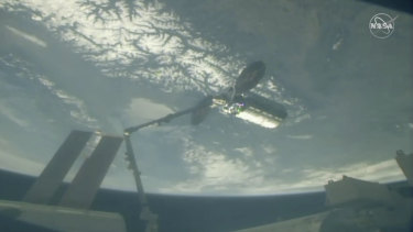 A Cygnus capsule arrives at the International Space Station in April.