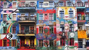 Graffiti House in Berlin. The city has long been a magnet for artists and musicians.