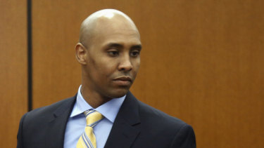 Former Minneapolis police officer Mohamed Noor arrives at the Hennepin County Government Centre for a hearing in Minneapolis in May, 2018.