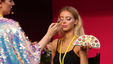 Coloured eyeshadow is a big beauty trend, according to some of the world's top experts.
