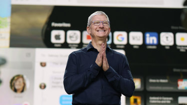 Apple chief Tim Cook is bullish on the US economy.