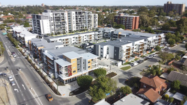 The just-completed One Kennedy in Maylands, at the former Ross' Auctions site.