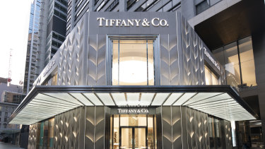 The new Tiffany & Co. Sydney flagship store, located at 175 Pitt Street, owned by Dexus