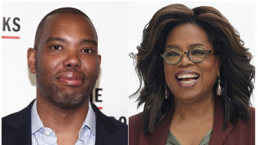 Author Ta-Nehisi Coates, left, and Oprah Winfrey, who selected Ta-Nehisi Coates' novel 'The Water Dancer' as her next book club pick.