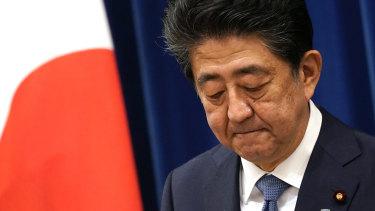 Japanese Prime Minister Shinzo Abe announces his resignation.