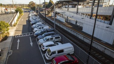 The existing car park at Ringwood station, one of several sites chosen for upgrades under the federal government's controversial congestion fund.