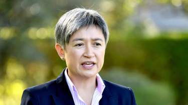 """Labor senator Penny Wong backed Anthony Albanese as """"the outstanding parliamentarian of our generation""""."""