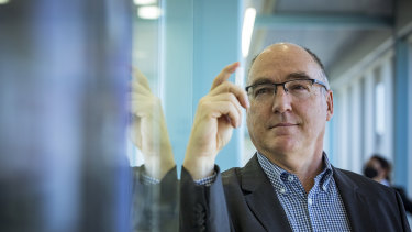 CSL's Chief Scientific Officer, Dr Andrew Nash, at the biotech giant's lab in Broadmeadows on Sunday.