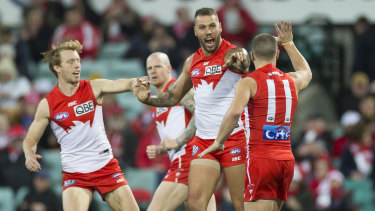 Lance Franklin kicked four goals from just five possessions.