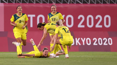 Australia's win over Great Britain has put them into their first semi-final of a major global tournament.