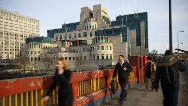 The British Secret Intelligence Service (SIS), commonly known as MI6's headquarters at Vauxhall Cross in London