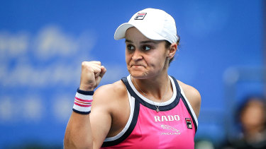 Ash Barty advances to the semi-finals of the Wuhan Open on Thursday.