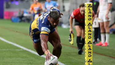 Maika Sivo scores for the Eels ... again.