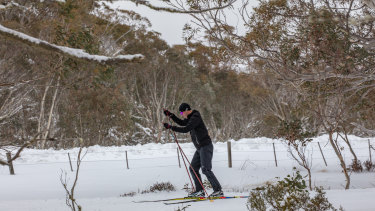 Heavy snow cover at Dinner Plain and Mount Hotham, Victoria on Tuesday afternoon.