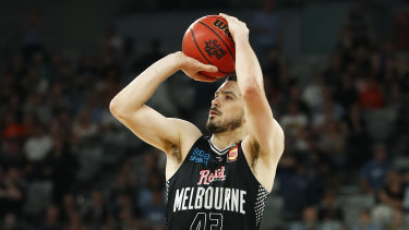 Not moving: Chris Goulding has just signed a three-year contract extension with Melbourne United.
