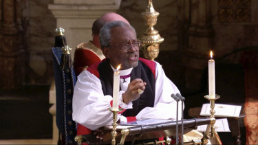 Bishop Michael Curry at Windsor.
