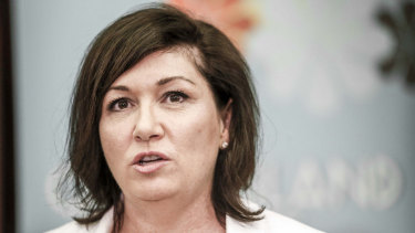 "Environment Minister Leeanne Enoch says ""we are now living the actual predictions of scientists from over a decade ago"" but she won't say what her stance is on Adani."