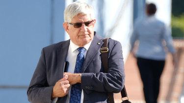Ken Wyatt , arrives at the Wangaratta Magistrates Court on Monday.