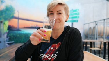 Chief judge, Jayne Lewis of Two Birds Brewing in Melbourne.
