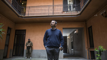 Paolo Borrometi is one of nearly 200 journalists in Italy who live under police protection.