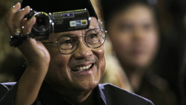 Former Indonesian president B.J. Habibie pictured in 2010.