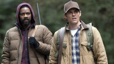 Jovan Adepo as Larry Underwood and James Marsden as Stu Redman in The Stand.