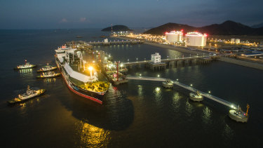 A floating gas facility in China.