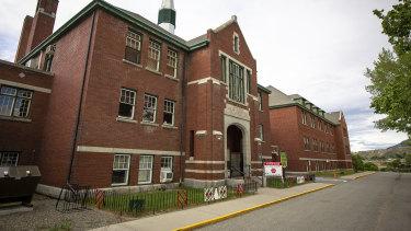 The former Kamloops Indian Residential School in Tk'emlups te Secwépemc First Nation in Kamloops, British Columbia.