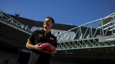 Shane McInerney broke the AFL umpiring games record last month.