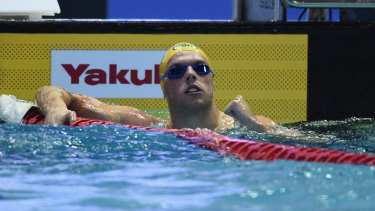 Sprint champ: Kyle Chalmers wins the men's 100m freestyle final.