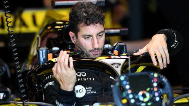 Daniel Ricciardo had a tough run in the first session.