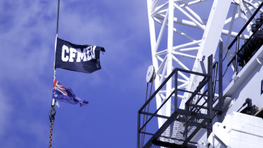 The CFMMEU and its officials have been fined for stopping work over demands for an extra toilet and bigger site shed.