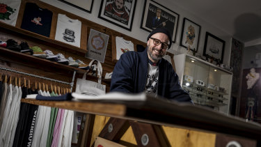 1st Product's Nick Angelopoulos at his Hawthorn store.
