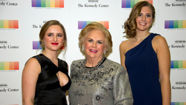 Jacqueline Mars, centre, and her granddaughters, Graysen Airth, left, and Katherine Burgstahler, right.